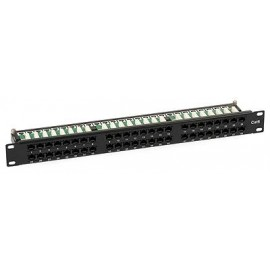 Patch Panel 1U 48 Porte Cat.6 RJ45 + fermacavo
